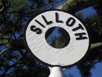 Silloth road sign