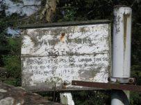 An old Water Board sign near to Castle Carrock reservoir