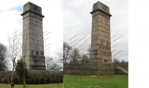 Trees around War Memorial, Rickerby Park, Carlisle