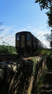 Train travelling towards Dalston, Cumbria