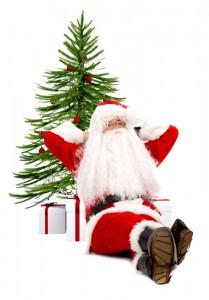 Santa waiting for Christmas