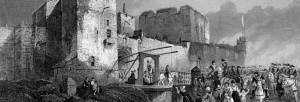 Historical image of Carlisle Castle during the Jacobite uprisings