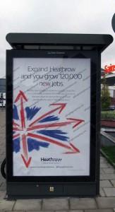 Expand Heathrow advert on Carlisle street