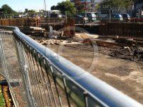 Hardwick Circus flood barrier construction