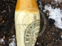 A broken bottle from a Carlisle brewery